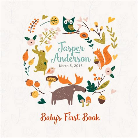 baby s book by rag and bone bindery forest friends