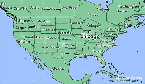 chicago map for where is chicago il chicago illinois map worldatlas