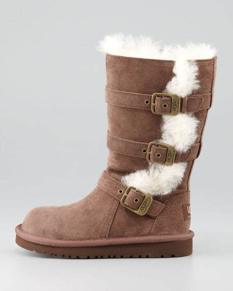 ugg maddi boots ugg maddi buckled sheepskin boot 13t6y in brown chocolate