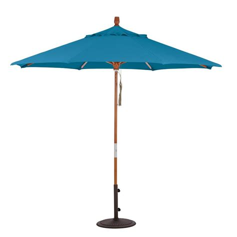 Patio Umbrella Frame Home Decorators Collection 7 5 Ft Pulley Lift Patio Umbrella In Sunbrella Regatta With