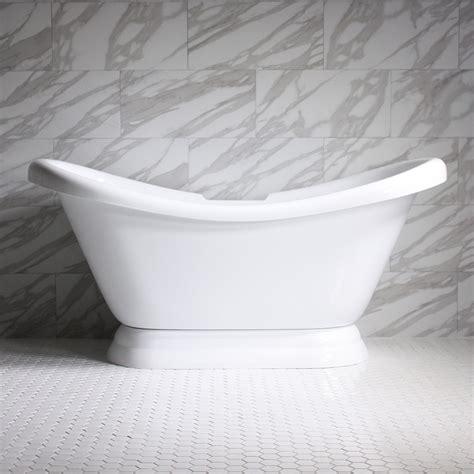 slipper pedestal tub hldspd73 73 quot hotel collection slipper pedestal tub