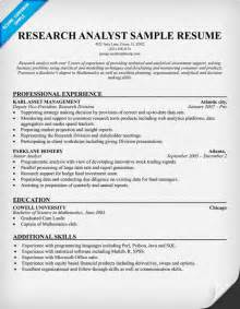 research analyst resume sle resume template for research assistants