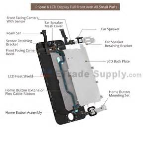 apple iphone 6 plus lcd assembly with frame and small parts black etrade supply