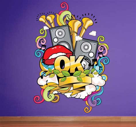 musical graffiti wall sticker tenstickers