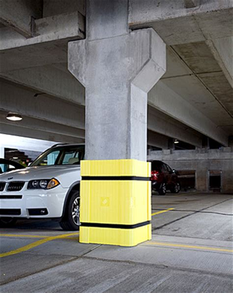 Parking Garage Column Protection by Parking Column Protector Yellow Of 3