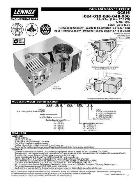 Lennox Gcs16 Wiring Diagram - Wiring Diagram