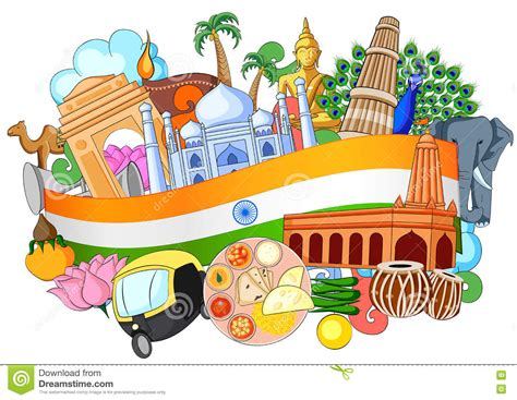 doodle of india doodle showing architecture and culture of america