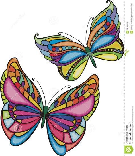 imagenes de dos mariposas juntas dos mariposas coloreadas imagenes de archivo imagen