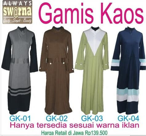Baju Kaos Muslimah Rabbani grosir jilbab swarna agen utama koleksi terbaru gamis
