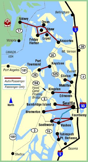 washington state ferry system routes