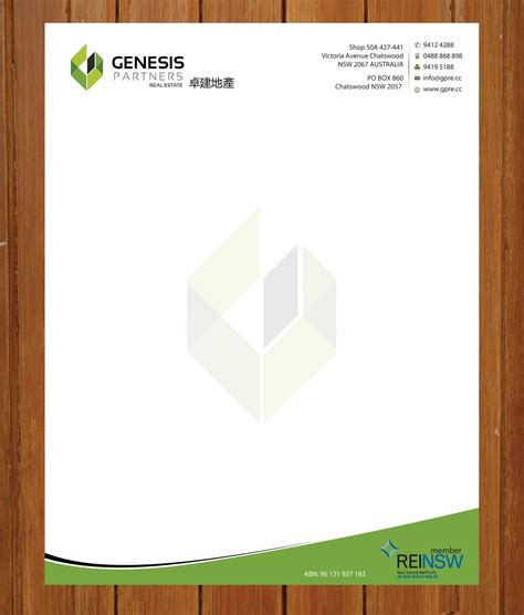 letterhead design formal letter template