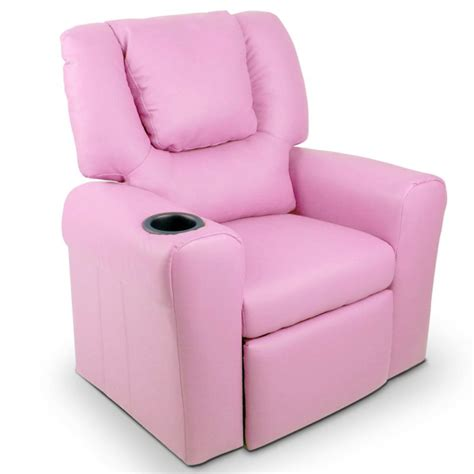 baby chair recliner kids pu leather recliner chairs w cup holder buy kids