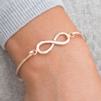 Ac 8457 Rosegold chiara sterling silver infinity bangle by bloom boutique