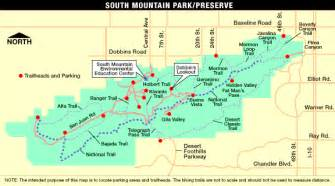 south arizona map south mountain park hiking biking horseback