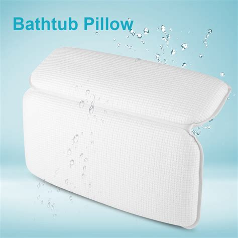 padded bathtub pvc foam padded spa bath pillow tub headrest head neck