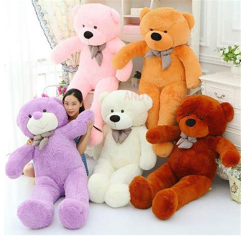 online cheap giant teddy bear 120cm 140 160cm cotton dolls