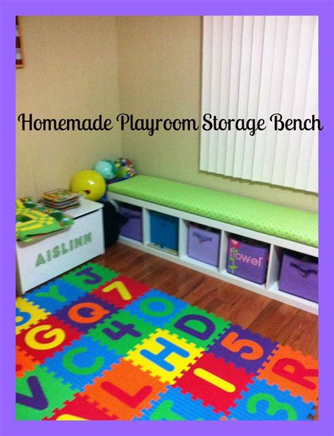 ikea playroom storage bench diy box woodworking projects plans