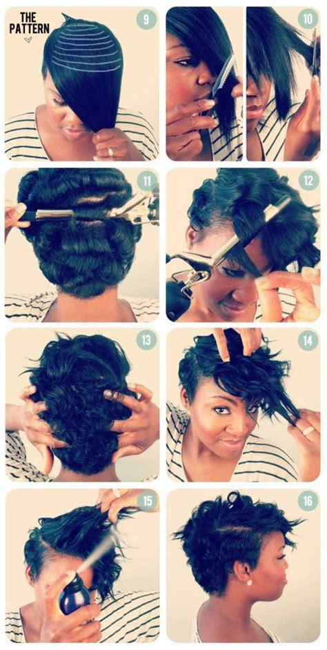 tutorial for black bonded weave hairstyles les cheveux courts avec des jolies boucles un charme