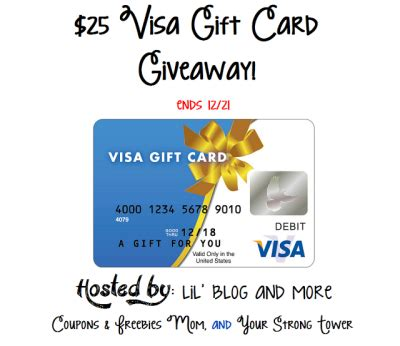 Visa Gift Card Sweepstakes - 25 visa gift card giveaway