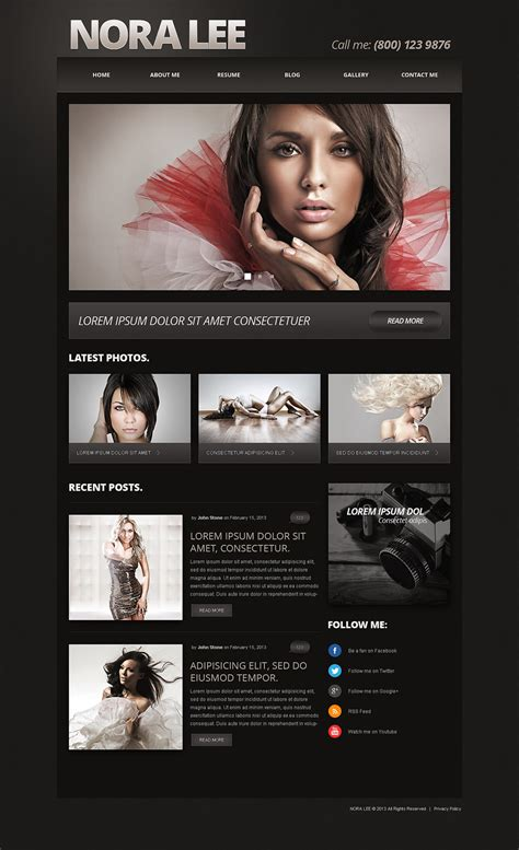 joomla photography template free joomla template 50587 in photography category
