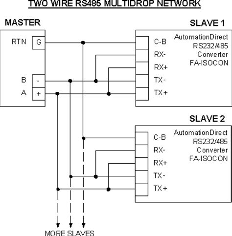 2 wire rs485 wiring diagram
