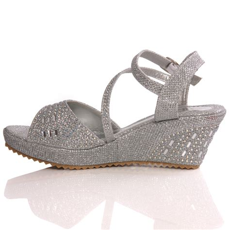wedding wedge sandals for unze new benta wedge fashion wedding sandals silver