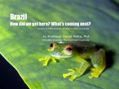 Jhu Ptt Mba by Brazil Facts And Figures