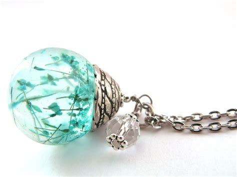 jewelry resin beautiful s lace resin pendant necklace sphere