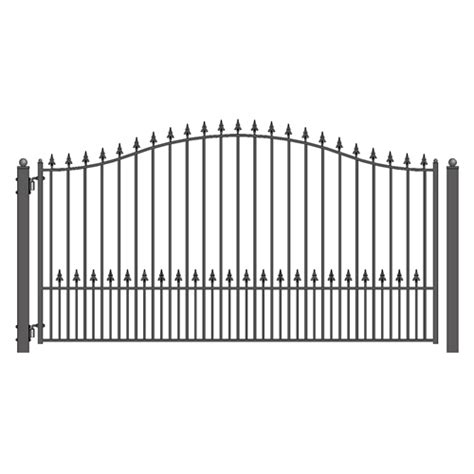 munich style single swing steel driveway gate