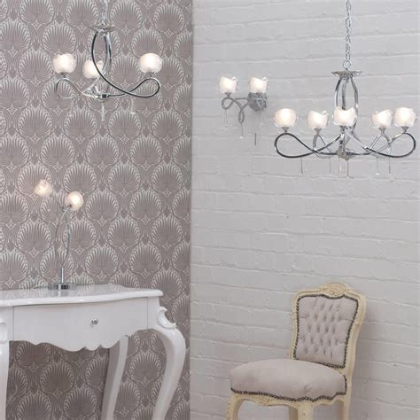 Matching Table And Ceiling Lights Marta Glass Wall Light 2 Light Chrome From Litecraft