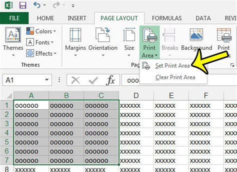 set printable area excel 2013 how to set the print area in excel 2013 live2tech