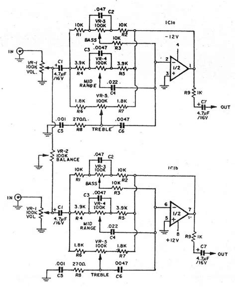 Pcb Tone Stereo Tr Plus Subwoofer Jrc4558 pic 2 schematic