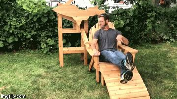 dispensing adirondack chair plans builds his own can dispensing wooden lawn chair