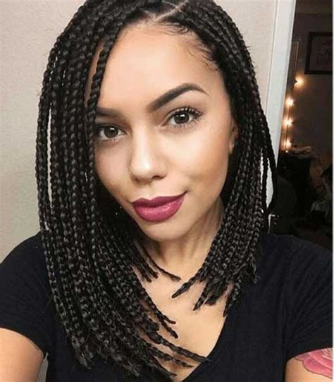 short box brades amazing hairdos for black ladies with box braids short