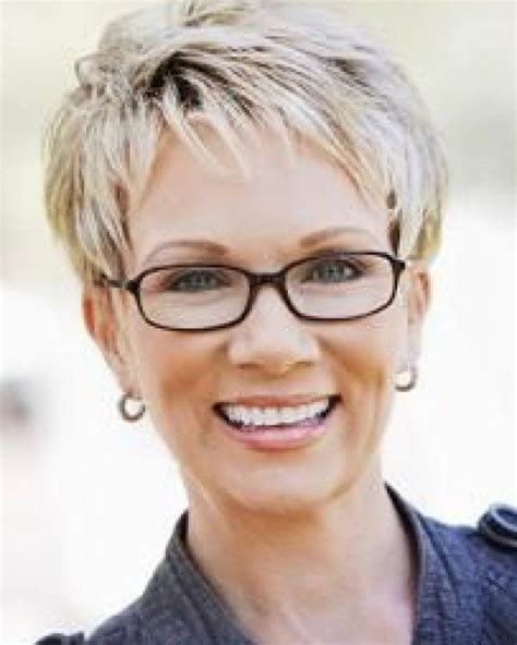 hairstyles with glasses pinterest short hairstyles for mature women with glasses