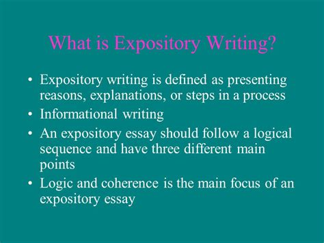 What Is Expository Essay by The How And Why Of Writing Ppt