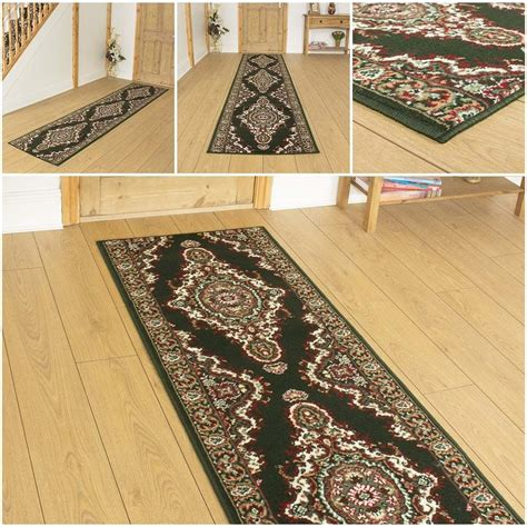 cheap runner rugs hallway turkesh green hallway carpet runner rug traditional cheap ebay