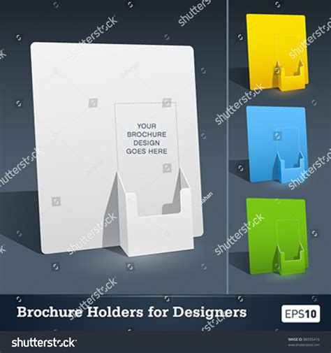 blank brochure holder template designers stock vector