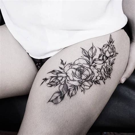 rose tattoo on upper thigh the 25 best ideas about thigh on