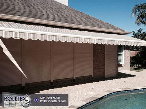 retractable awnings houston retractable awnings houston tx rolltex shutters