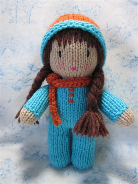 knitted doll beth webber with needle and hook and made with by