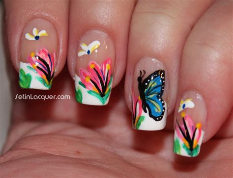 easy nail art butterfly april 2013 set in lacquer