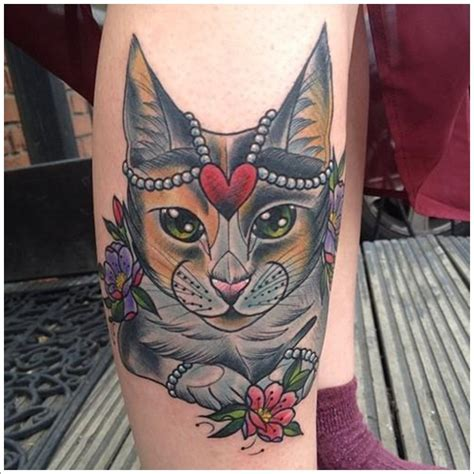 tattoo old school cat cat tattoo designs ideas 19