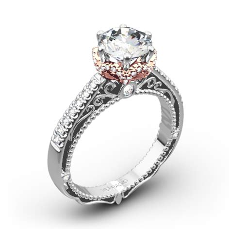 verragio afn 5052 4 6 prong crown engagement ring