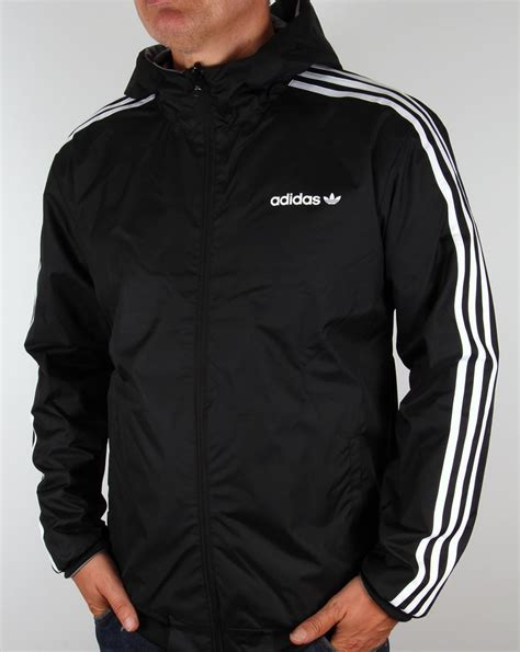 adidas windbreaker adidas originals reversible windbreaker grey black jacket
