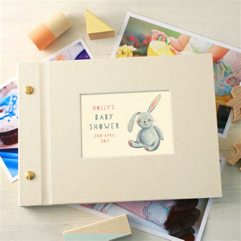 Baby Shower Photo Album by Personalised Baby Shower Mini Photo Album By Made By Ellis