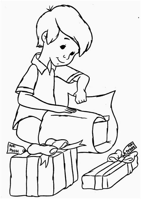 boy christmas coloring page children themed christmas coloring pages