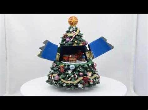 christmas tabletop musical rotating christmas tree decoration 5 quot tabletop tree musical box with animated rotating figurine