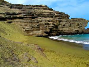 colored sand beaches hawaii s astonishing green gets its color from
