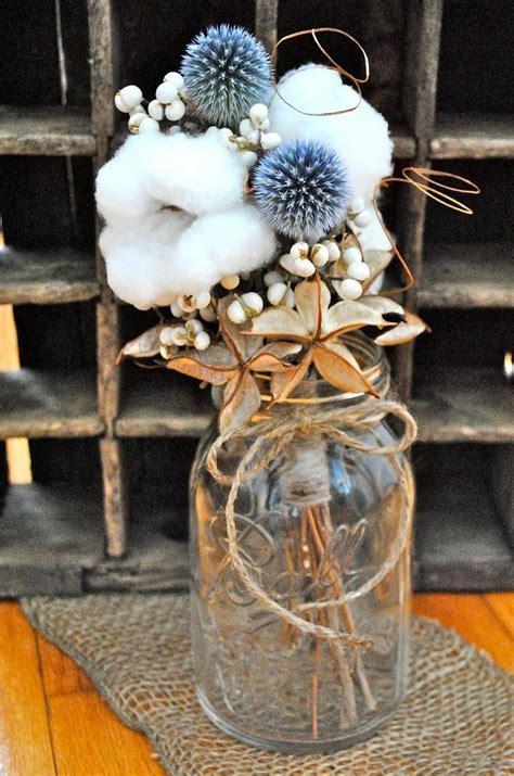 Cotton Centerpiece Bouquets   Raw Cotton   Natural Cotton
